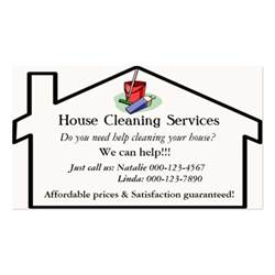 Cleaning Business Cards Templates house cleaning services business card template business