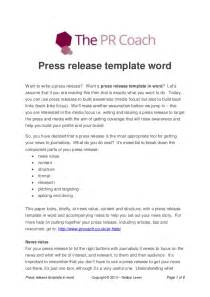 word press release template press release template word