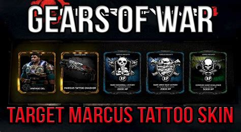 gears of war 4 marcus tattoo skin youtube