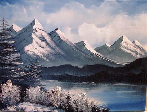 bob ross paintings mountains bob ross paintings search flyyyyyyy fishin