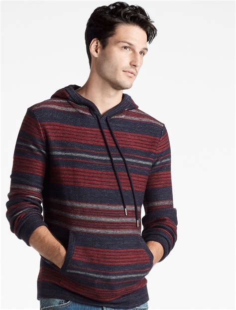 Striped Hooded Sweater striped hooded sweater baggage clothing