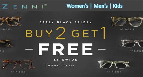 Zenni Optical Gift Card Code - zenni optical early black friday deal buy any 2 eyeglasses get 1 free get zenni