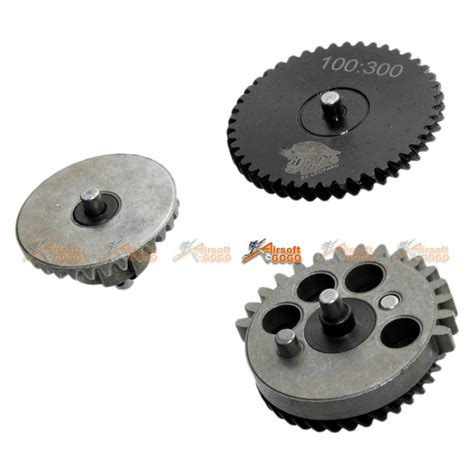 King Arms High Torque Helical Steel Gear Set For V2v3 Aeg zc leopard cnc high torque helical gear set 100 300 airsoftgogo