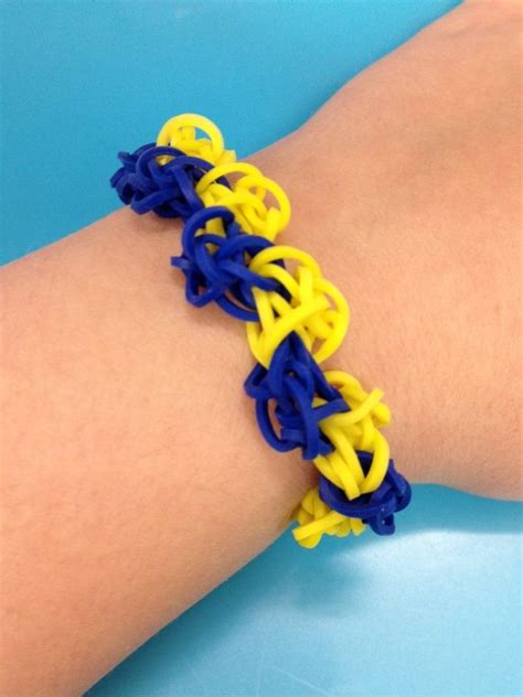 rainbow loom bracelet blue 17 best images about bandaloom rubber band bracelets and