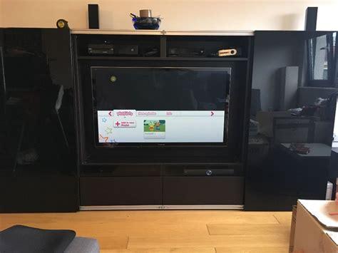 ikea tv cabinet with sliding doors ikea best 197 tv unit and storage with sliding doors in
