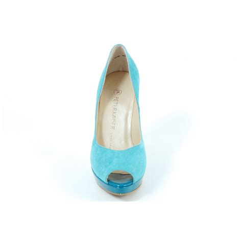 turquoise high heel shoes kaiser patu high heel evening shoes in turquoise