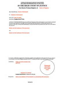 Probate Valuation Letter Template by Probate Valuation Letter Template Sle Trust