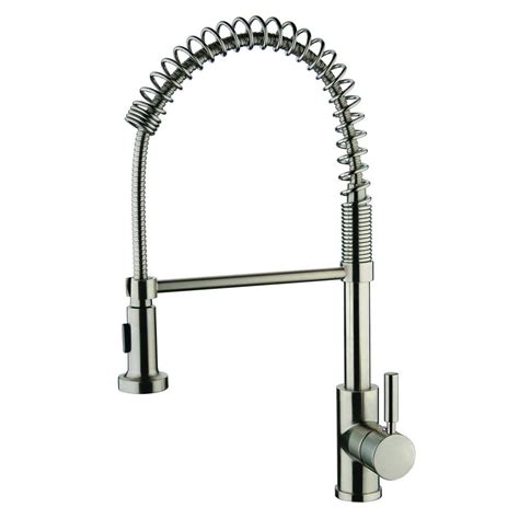 Brushed Nickel Kitchen Faucet With Sprayer Ez Flo Non Metallic Single Handle Pull Out Sprayer Kitchen Faucet In Brushed Nickel 10385 The