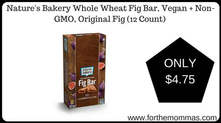 Fig Bar Original 3 nature s bakery whole wheat fig bar vegan non gmo original fig 12 count 4 75