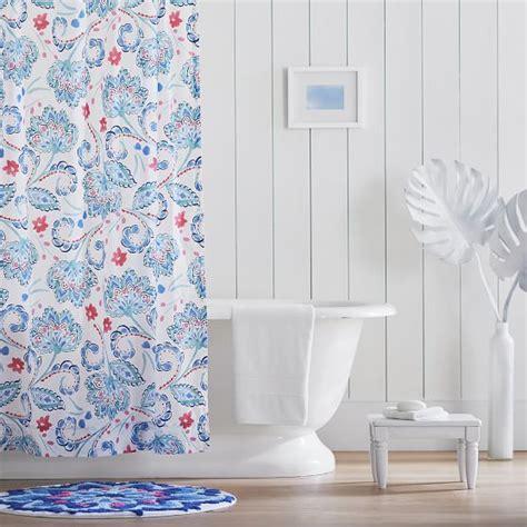 teen shower curtain marni shower curtain blue pbteen