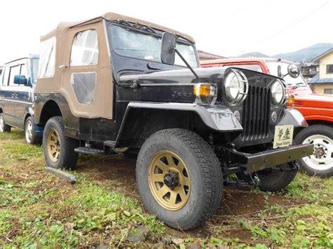 mitsubishi jeep canvas top golden black version 1995 black 89 000 km details japanese