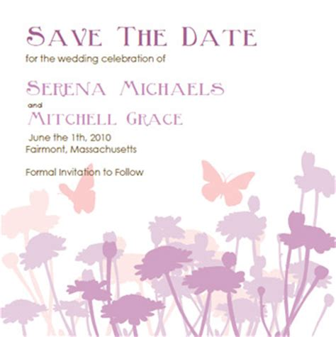 Do It Yourself Save The Date Cards Templates by Butterfly Wedding Invitations And Lavendar