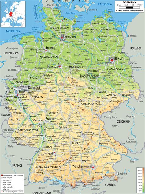 germany map detailed maps of germany detailed map of germany in