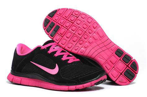 womens nike free 4 0 v3 ext suede black pink shoes nike
