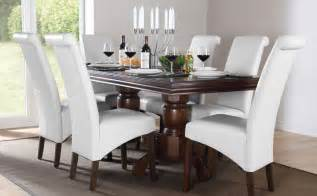 White Wood Dining Table And Chairs Chatsworth Boston Extending Wood Dining Set White