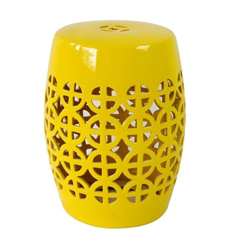 Yellow Ceramic Chinese Drum Stools Hong Kong at 20% off