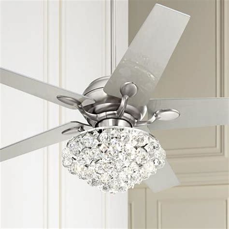 bling ceiling fan light kits 52 quot casa optima brushed steel ceiling fan 86646