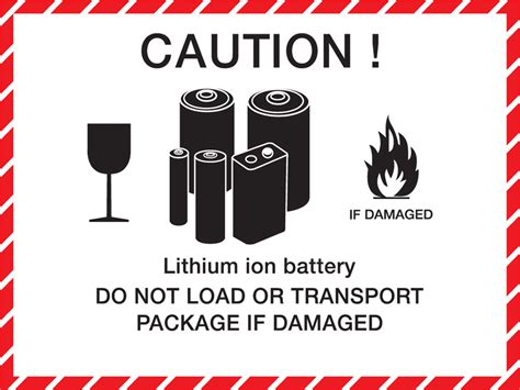 New Usps Mailing Regulations For Lithium Battery Shipments In March 2015 Mpf Lithium Ion Battery Label Template