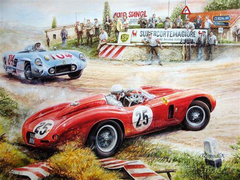 classic racing wallpaper vintage cars and racing scene wallpapers paintings