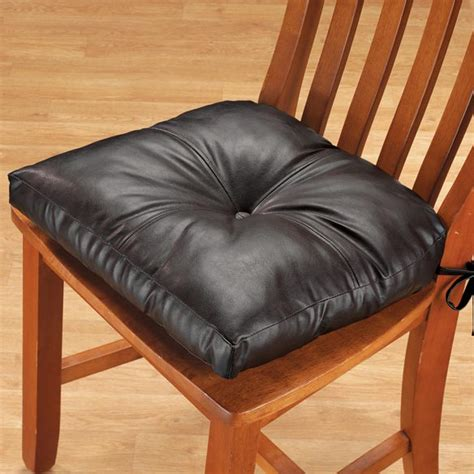 Dining Chair Pads And Cushions Faux Leather Chair Pad Dining Chair Cushion Walter