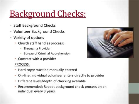 Volunteer Background Check Requirements Congregational Best Practices For Safety Security Volunteer Backgro