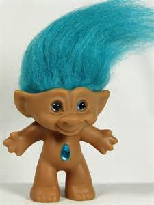 trolls with colored hair ace novelty troll doll 3 1 2 turquoise hair and