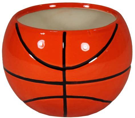 Home Decor Items Wholesale Cn1039 4 5 Quot Ceramic Basketball Planter
