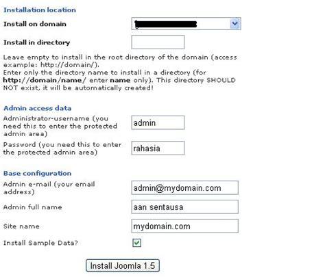 cara membuat database joomla di xp instalasi joomla dan xp bagaimana cara instalasi joomla melalui fantastico