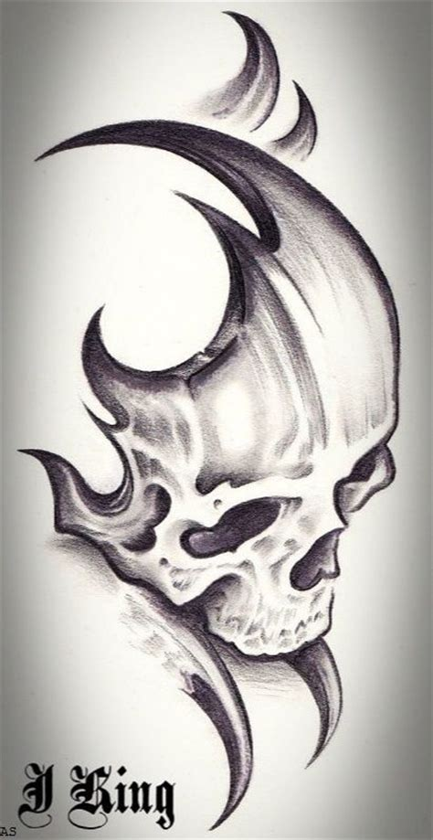 tribal skull tattoo design 7 best tribal skull tattoos designs images on