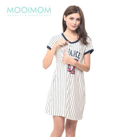 Baju Menyusui Ibu Dan Anak jual murah mooimom baseball nursing dress baby clothes