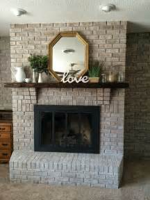 How To Modernize A Brick Fireplace by Best 25 White Wash Fireplace Ideas Only On