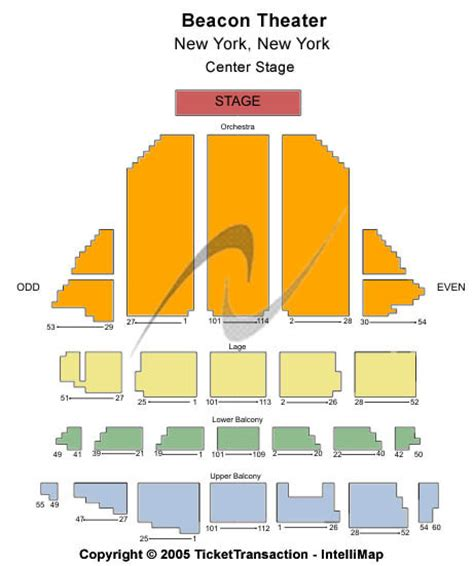beacon theater seating chart beacon theater nyc seating images frompo 1