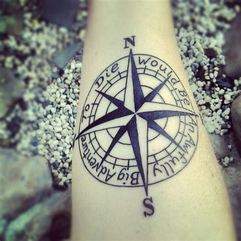adventure tattoo ideas quot to die would be an awfully big adventure quot