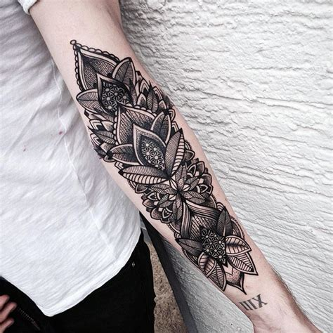 under arm tattoos for inner arm lillies with colors