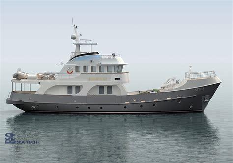catamaran trawler plans trawler yacht st2807m seatech ltd
