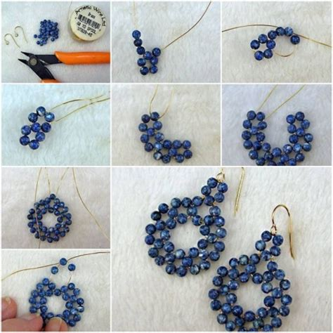 how to make wire jewelry earrings how to make gold wire or pearl jewelry earrings step