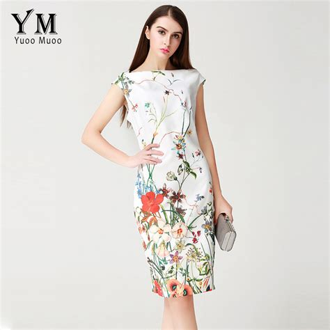 dress branded yuoomuoo 2017 summer dress knee length