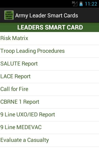 army leader smart cards android apps on google play