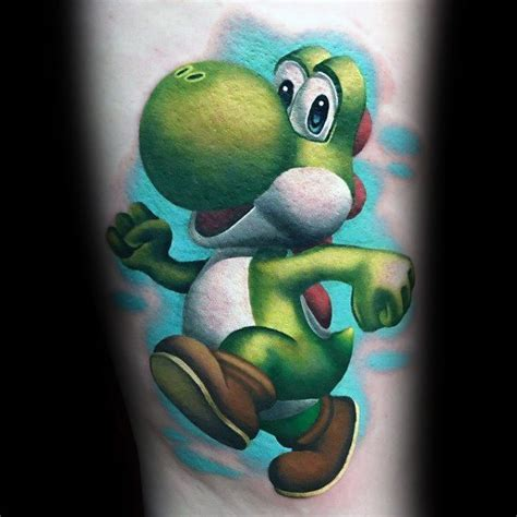 beloved studios tattoo poster u2013 100 yoshi the best gaming tattoos that you