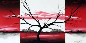 Home Decor Online Store Nz Red Original Fine Art Paintings By Dapore Red Landscape