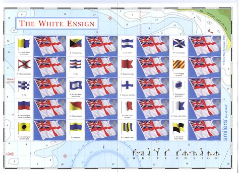 Great Britain Flags Ensign Ms 2001 smilers greetings sts quot white ensign quot great britain 21 june 2005 from norvic philatelics