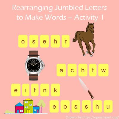 make words from letters rearranging jumbled letters to make words activity 1 1494
