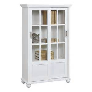 White Glass Door Bookcase by Altra Bookcase With Sliding Glass Doors 9448096