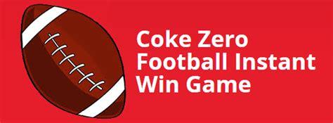 Coke Zero Sweepstakes - coke zero speedway football instant win game
