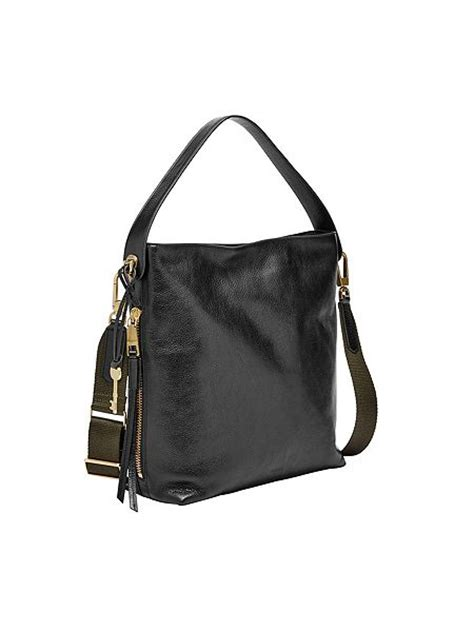 Fossil Hobo Bag In Bag fossil zb6979001 hobo bag black house of fraser