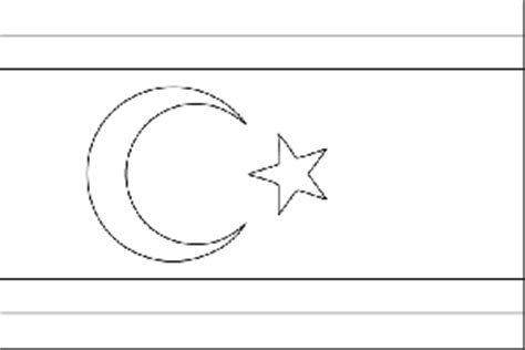 turkish republic of northern cyprus flag coloring page