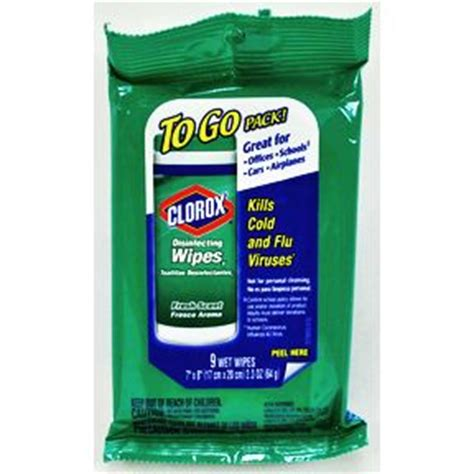 clorox disinfecting wipes   pack fresh scent travel size miniature products superstore