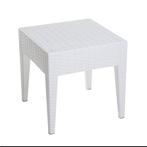 Patio Table White by White Wood Patio Side Table Chicpeastudio