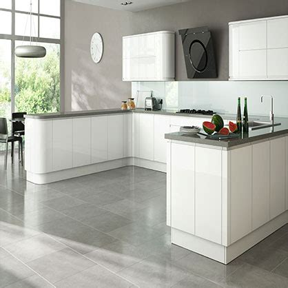 White Gloss Kitchen Cabinet Doors Larissa White Gloss Doors Handleless Kitchen Cabinet Doors Topdoors