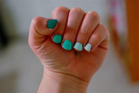 acrylic paint nail diy monochrome nails bluedoves